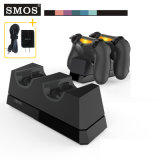 Заряжатель регулятора Smos беспроволочный для регулятора Сони PS4 с 2 местами