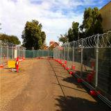 Cerca provisória galvanizada construção de Removeable
