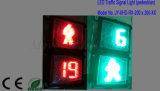 Квадратный пластичный сигнал Crosswalk с отметчиком времени/пешеходом комплекса предпусковых операций
