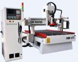 Automatische 3D CNC van de Wisselaar Router voor het Houten Maken van de Deur Cabniet