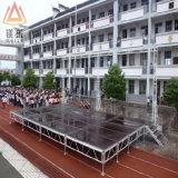 Étape extérieure en aluminium de concert d'étalage de défilé de mode de passerelle en aluminium en bois extérieure de contre-plaqué