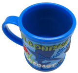 Dia8.2cm Customized 3D Soft PVC Promotional Plastic Mug