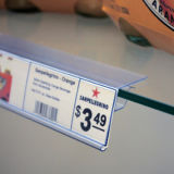 PVC libero Plastic Price Label Holder per Shelves