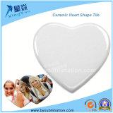 En forma de corazón del azulejo de cerámica para sublimación
