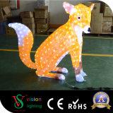 Luz acrílica do Fox do diodo emissor de luz da decoração do Natal