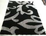 Alfombra de seda del suelo del poliester lanudo largo de la pila del diseño moderno
