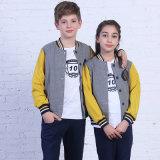 Tracksuit superior de los muchachos y de las muchachas de la manera/desgaste de los deportes, uniformes escolares primarios del último diseño