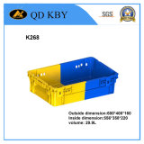 Caixa plástica empilhada cor do engranzamento Foldable reversível de K268 Doule