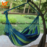 Hanging Rope Hammock Chair Outdoor Swing Yard Patio Tree Cotton Solid Wood