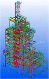 Estructura de acero del marco del incinerador