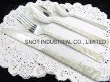 D'or-Placage et jeu de vaisselle plate de couverts d'acier inoxydable de couverts de souffle de sable