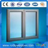Champán/ventana doble de aluminio de bronce del marco