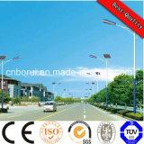 10m 80W alto lumen para Village, Parque, Jardín, Camino, estacionamiento accionado solar de la luz LED, buen precio luz de calle solar