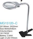 lupas de trabajo de 5X22mm/2X130m m con el LED y el clip