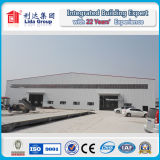 Span largo Sandwich Panel e Corrugated Steel Structure Prefabricated Warehouse