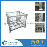 Recipientes galvanizados armazém da gaiola do armazenamento do engranzamento de fio com rodízio