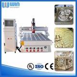 Gravure die van het Malen van het Aluminium van het Messing van de steen de Houten CNC de Prijs van de Machine snijden