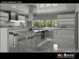 Projeto 2015 branco do armário de cozinha da laca de Welbom