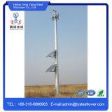 Tour simple de tube galvanisée par acier/tour de télécommunication/tour support d'individu