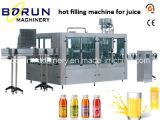 Máquina tampando de enchimento da lavagem de frasco do suco