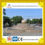 Fuente de agua de la música de la dimensión de una variable de la torta redonda en el parque