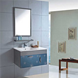 Modules de salle de bains en acier de rythme de mur de qualité avec le miroir