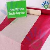 Tablecloth 100% não tecido colorido do Polypropylene do Virgin da venda por atacado