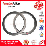 carbono Aero novo Wheelset da estrada de China do carbono da bicicleta da borda 60c do rebitador da roda 60c