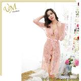 Robe sexy de lacet de lingerie de type d'été de pyjamas de femmes
