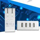 가족 치수가 재진 충전소 4 운반 USB 벽 충전기