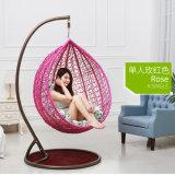 Oscilación al aire libre de la fábrica rosada, muebles de la rota, silla colgante del huevo de interior (D011)