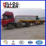 アフリカのTractor Usedのための40t 3 Axle Flat Bed Trailer