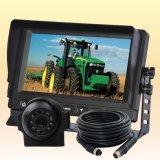 カメラシステムを逆転させる農場トラクターの安全視野の農業の一部分