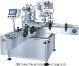 자동 턴테이블 화학 약제 장식용 병 액체 채우는 캡핑 기계