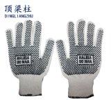 Two-Side PVC поставил точки перчатки хлопка выровнянные Knit работая с Ce