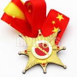習慣は記念品のギフトの使用中のデザイン高品質の金属の金のスポーツメダルを個人化した