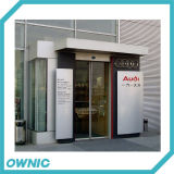 Автоматическая стеклянная раздвижная дверь рамки Ss304 полного набора для кренов, станции масла, коммерчески зданий