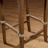 一義的な藤のバースツール木棒椅子A03-11
