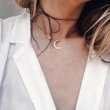 Cuir simple de derme de Tout-Allumette avec le collier de foulard du tube DIY d'Or-Couleur