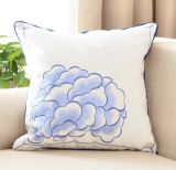 Stile nazionale cinese di disegno del fiore della cassa del cuscino del coperchio dell'ammortizzatore del ricamo delle lane della tela di canapa del cuscino