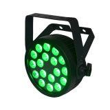 Weißes Gehäuse 18X12W RGBWA dünnes LED NENNWERT Stadiums-UVlicht mit Powercon und Cer-Bescheinigung