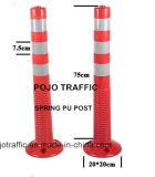 Poste amonestador Pjwp101 del resorte plástico anaranjado reflexivo de la seguridad