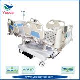 Cama de hospital eléctrica del control de la tarjeta del carril lateral y de pie