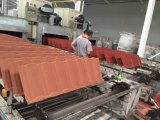 Azulejo de material para techos de acero revestido del metal de la piedra colorida de la arena para las casas