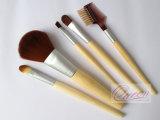 Reeks van de Borstel van de Make-up van het bamboe 5PCS de Kosmetische