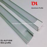 Alp1506 anodisés amincissent l'extrusion en aluminium d'aluminium de profil