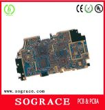 Multilayer PCB van Gold Immersion Rigid met UL en RoHS