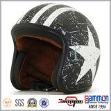 レトロのワインレッドの開いた表面Harleyのオートバイのヘルメット(OP235)