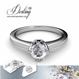Het Kristal van de Juwelen van het lot van Klassieke Ring Swarovski
