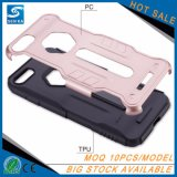 Caja híbrida del teléfono del guerrero PC+TPU para el más de Vivo V5/V5 con la ranura de la tarjeta de crédito y Stander